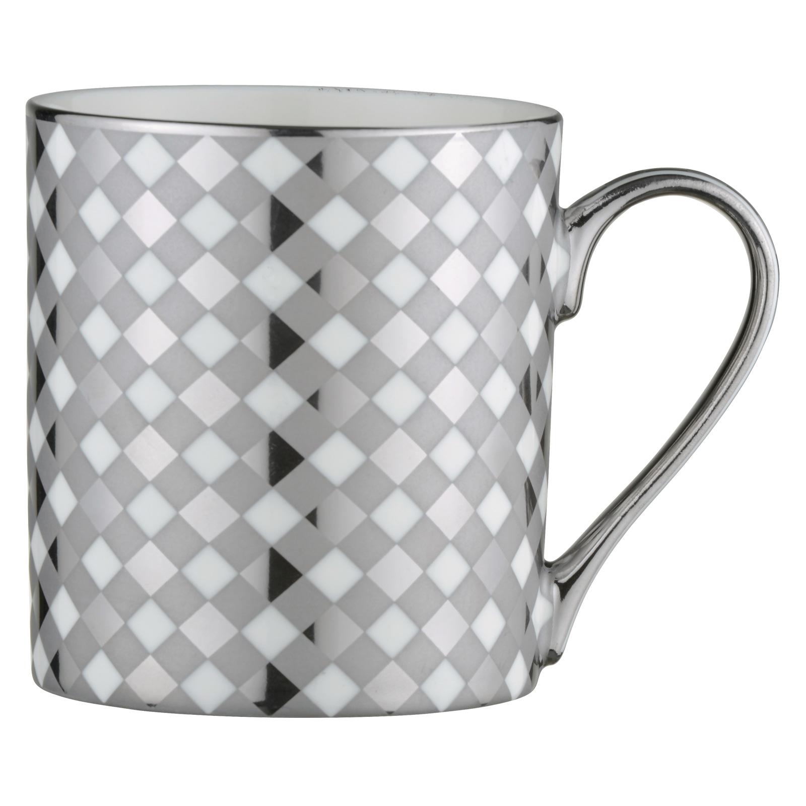 Tartan Mug Platinum