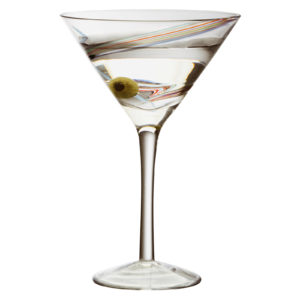 Set of 2 Arc Cocktail Glasses