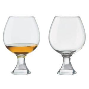 Set of 2 Manhattan Brandy Glasses