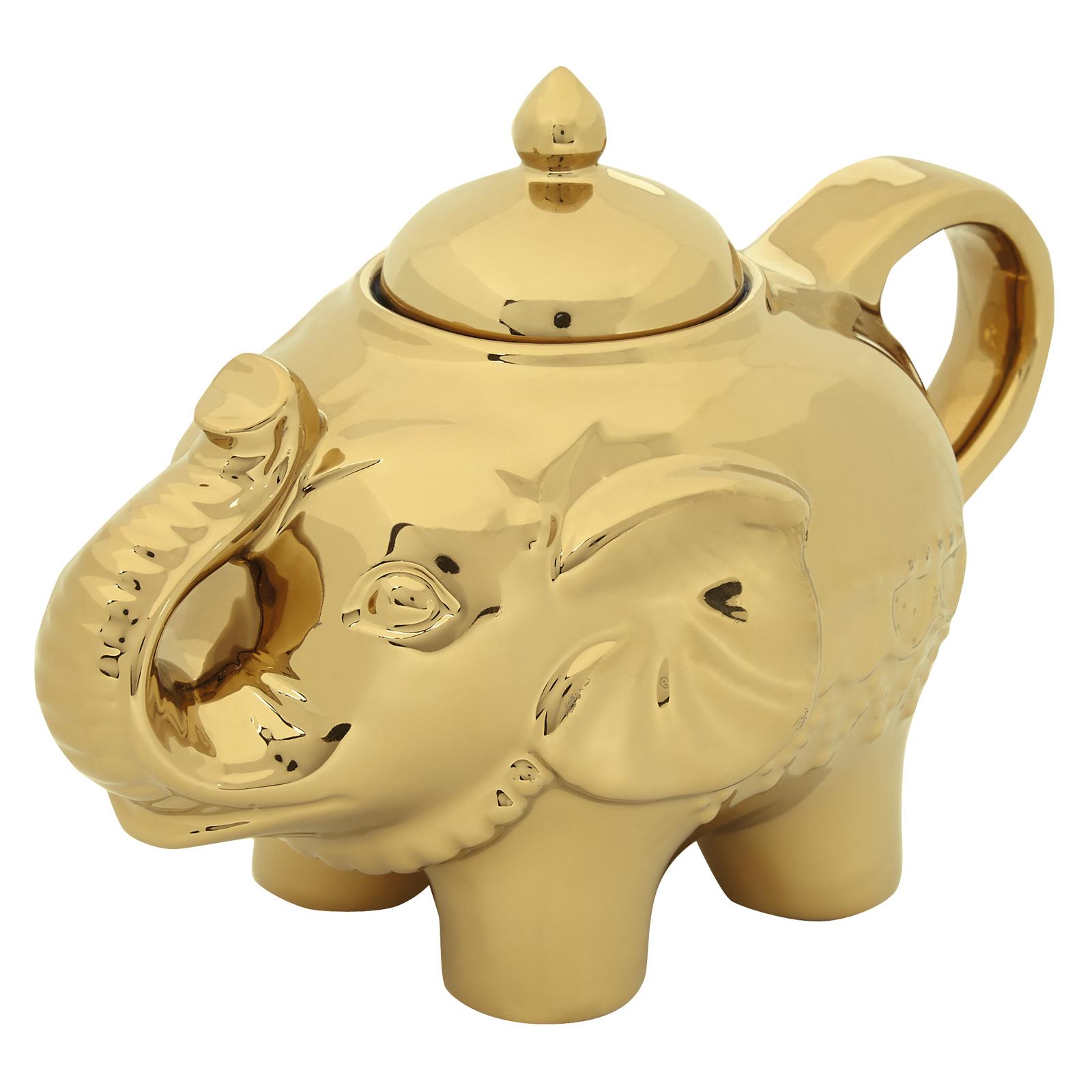 Elephant Sugar Pot Gold
