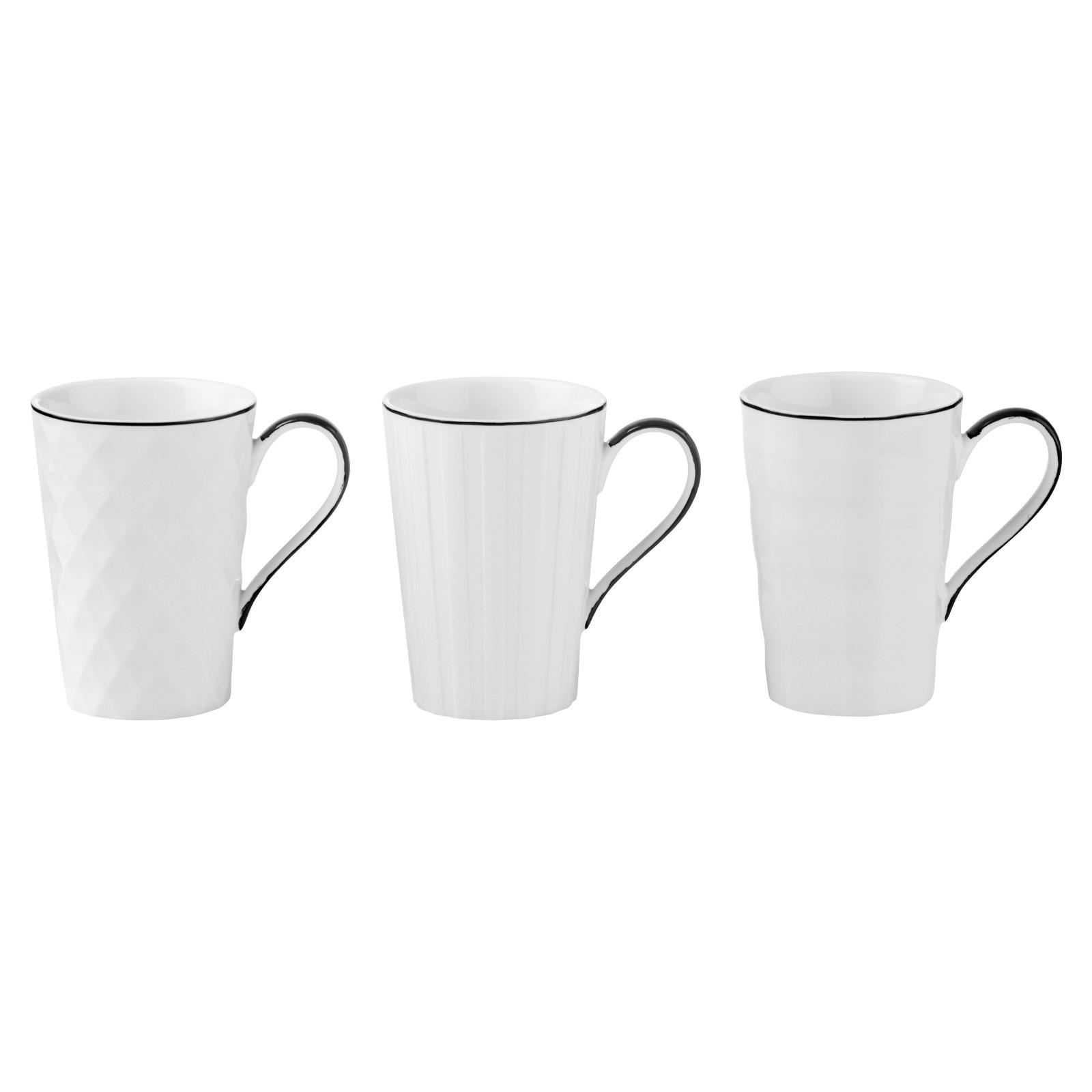 Set of 3 Lux Mugs Black