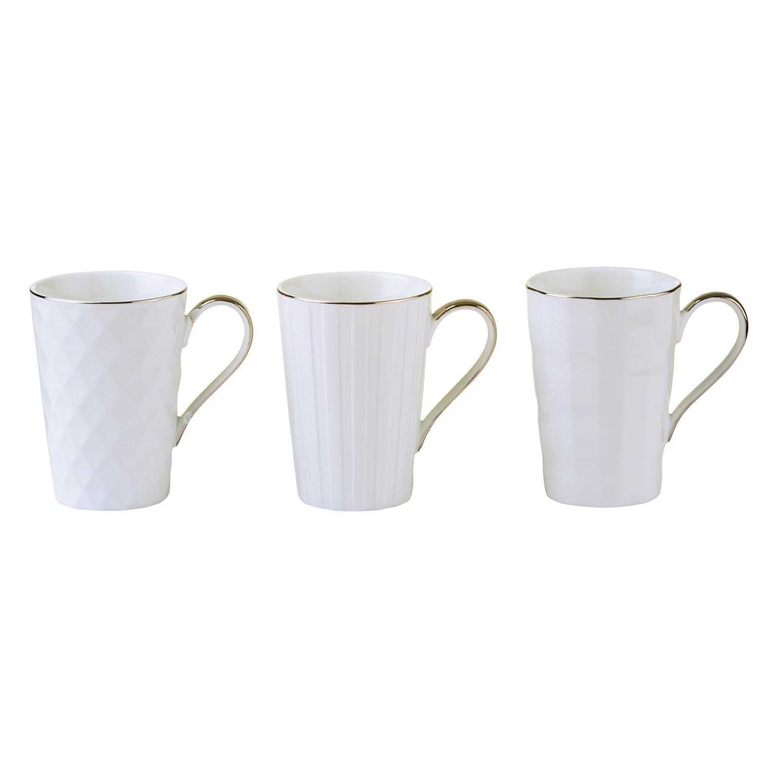 Set of 3 Lux Mugs Gold