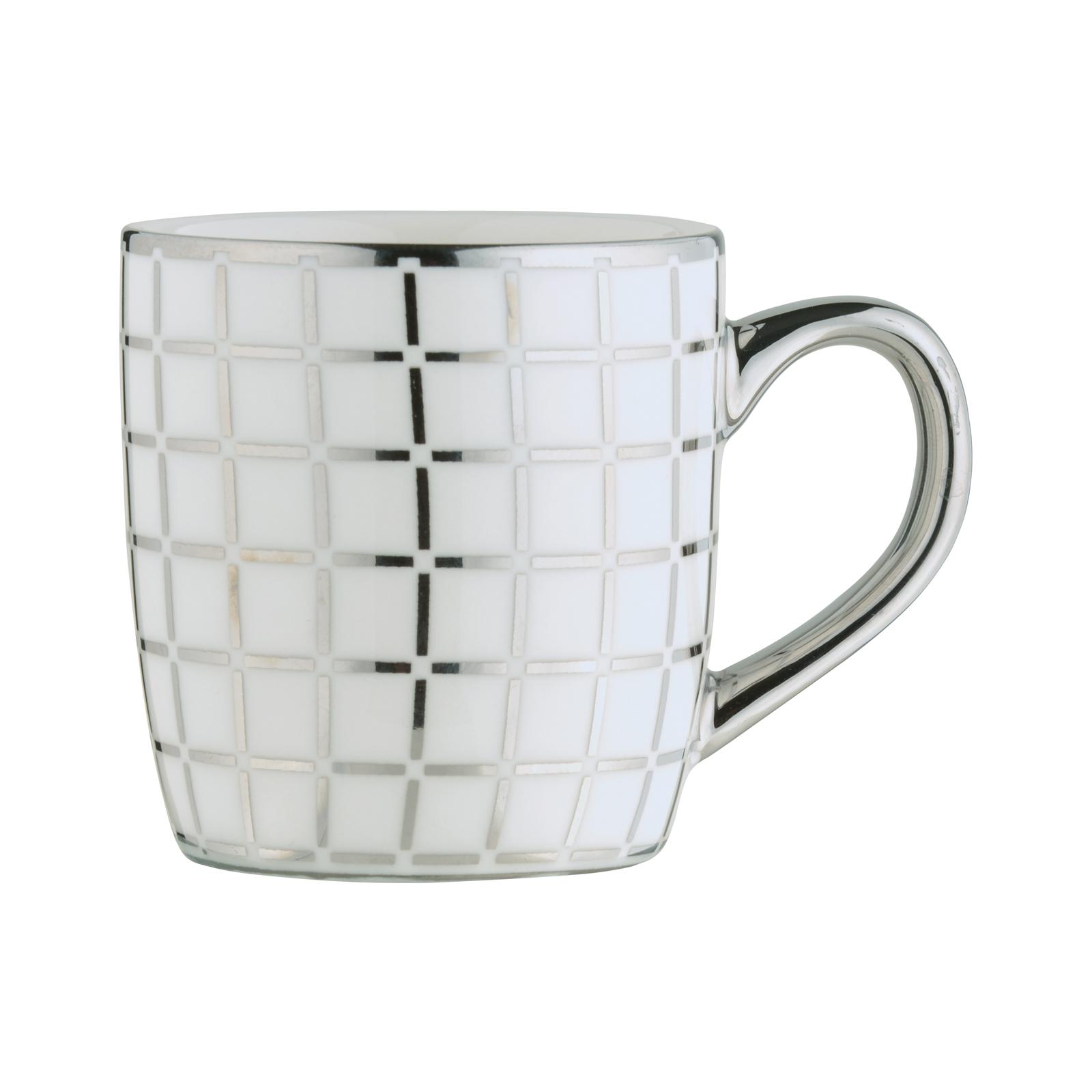 Lattice Espresso Mug Platinum